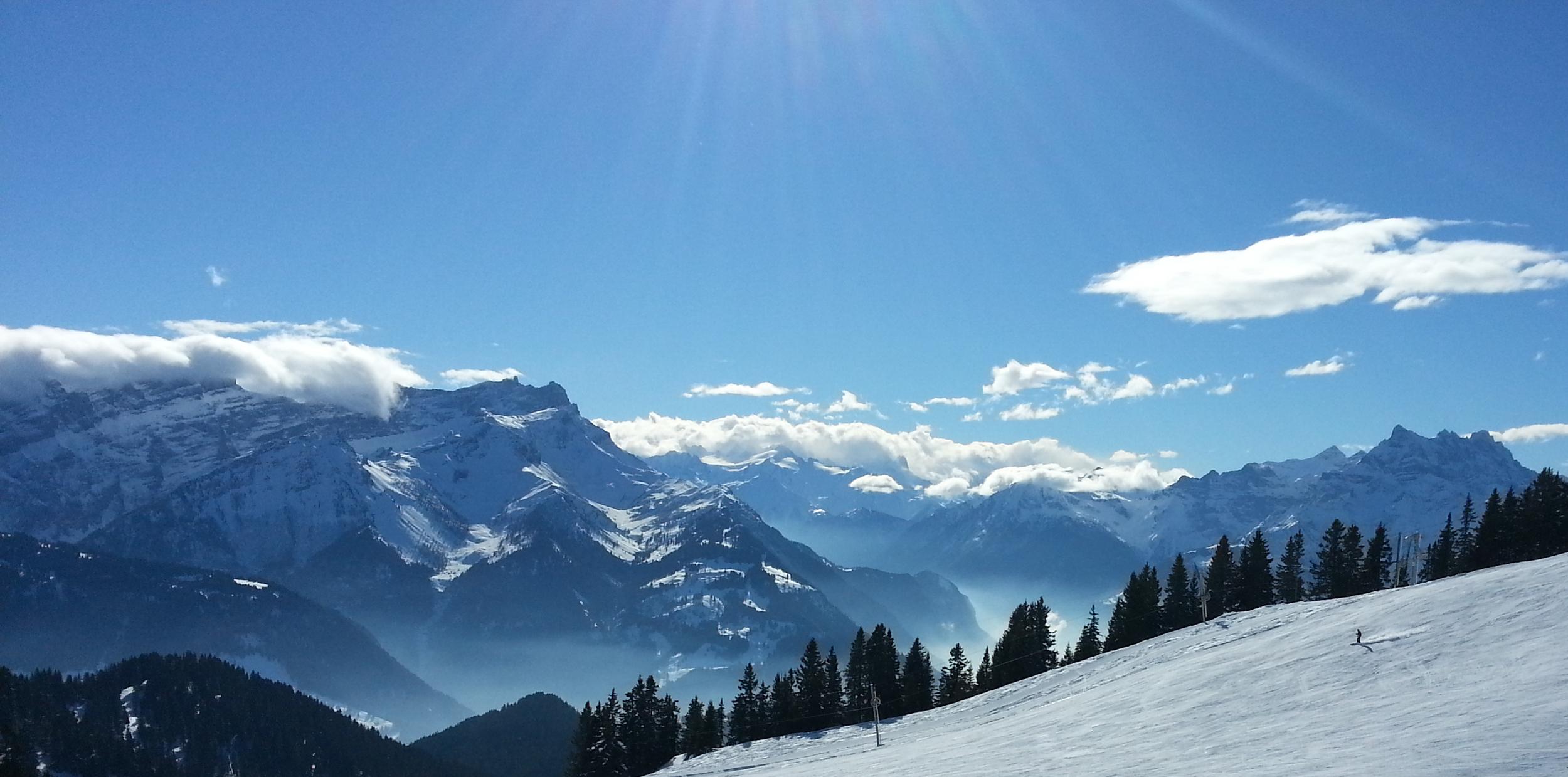 Les Diablerets skier