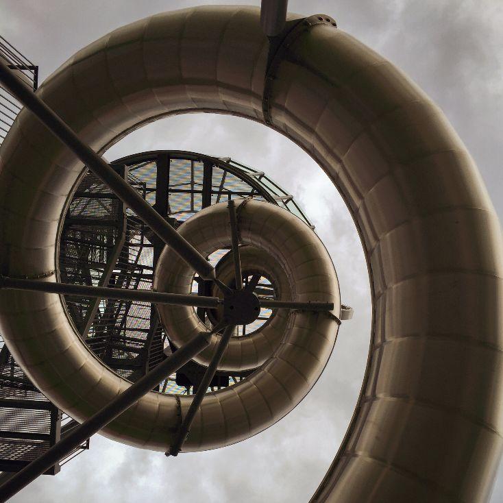 Clock tower slide