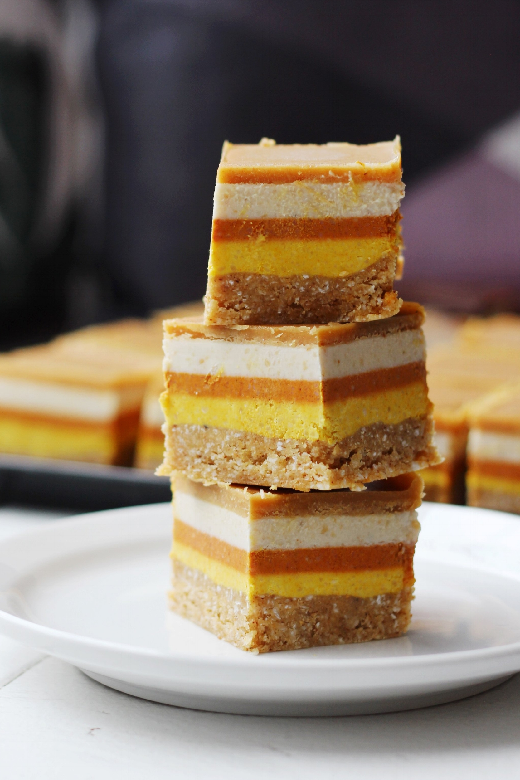 Caramel Candy Corn Square