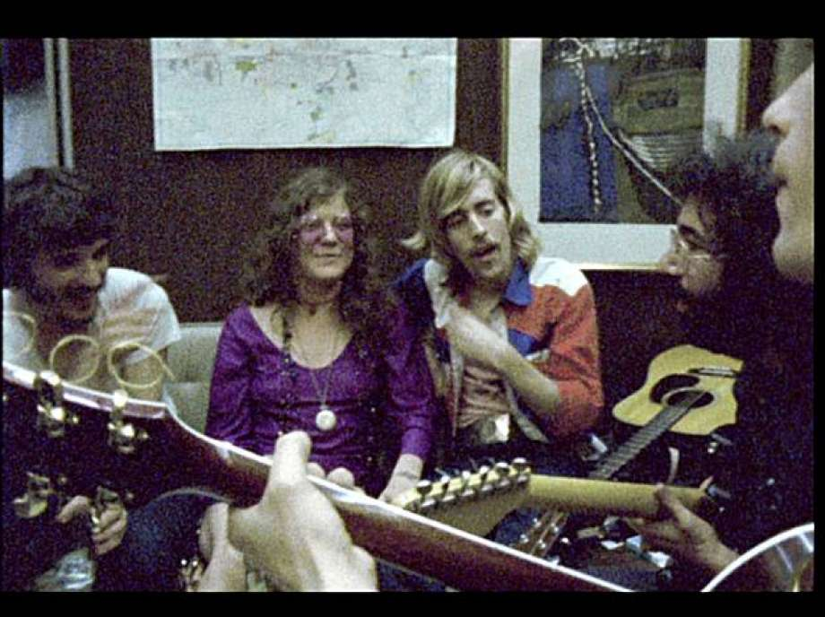 """Ain't No More Cane…On A Train      If you've ever wondered what it might be like to spend the wee hours of the morning hanging out with a very wasted trio of Janis Joplin, Jerry Garcia and The Band's Rick Danko as they attempt to get an impromptu jam session going in the back of a Canadian National Railways train going from one side of North America to the other in 1970…then this clip is for you. The musical merits of this particular rendition of the traditional prison work song """"Ain't No More Cane On The Brazos"""" is irrelevant. If you're looking for that, listen to The Basement Tapes or any number of other folks who've recorded it. This is more about being a fly-on-the-wall at a great party with old friends you don't get to see anymore and never got to see together like this. Keep an eye out for Jerry confessing his love for Janis then trailing off before finishing, to which Janis then accuses him of copping out. The full-length film,   Festival Express  , spends a little too much time focused on superfluous periphery people but this scene delivers at all-time great rock-doc levels.   editor's note:  don't get too hung up on the unnecessary subtitles, they're not even transcribed completely accurate...but this link was the only on YouTube containing the complete scene."""