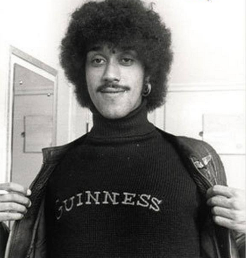 "The late great Phil Lynott of Thin Lizzy was once asked what it was like to be Black and Irish, his reply: ""Like a pint of Guinness""."