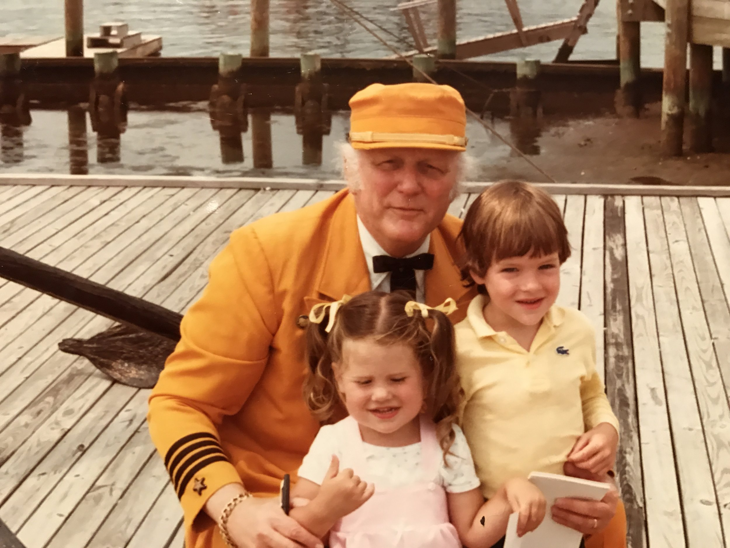 Erin, myself &    Captain Noah  in the early 80's...little did I know yesterday I'd be trying to get home in conditions that would require an Ark.