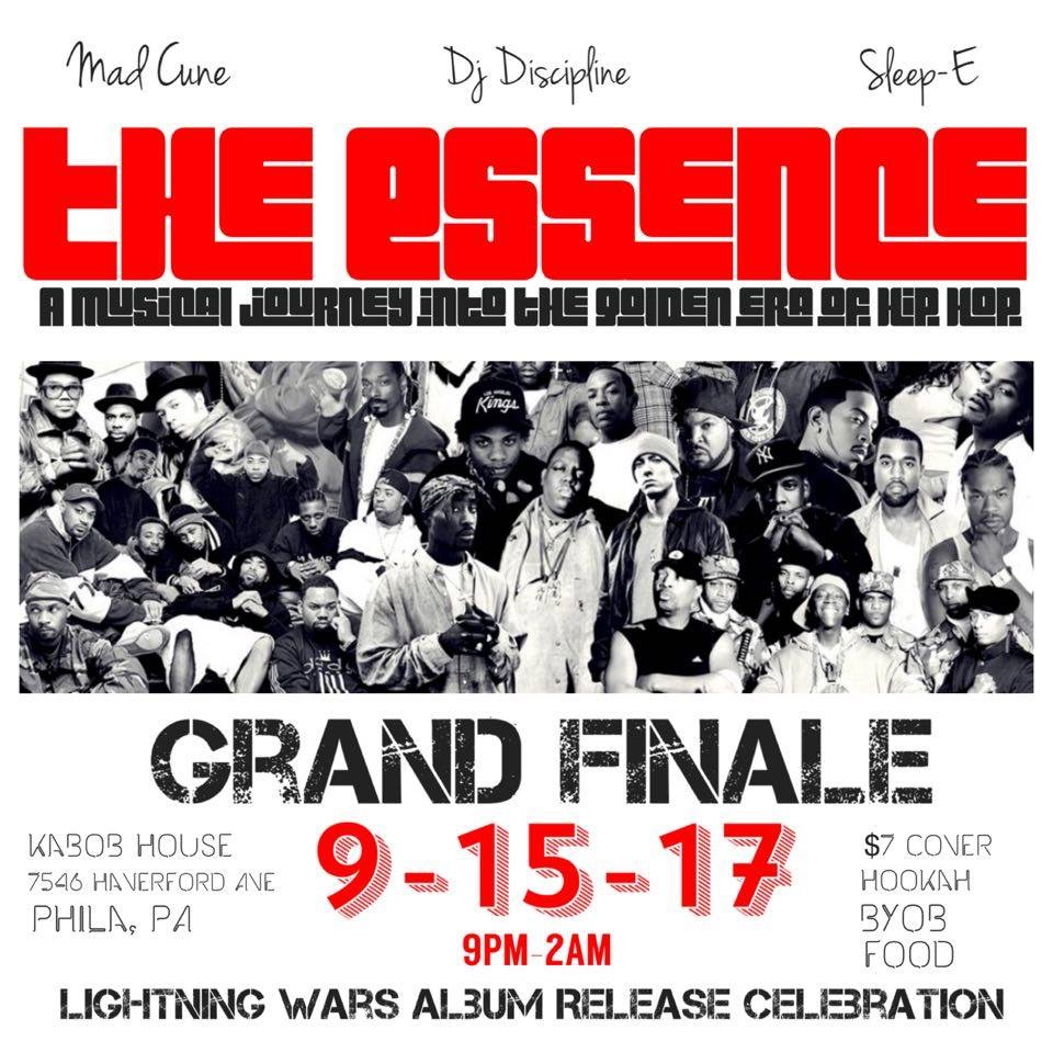 If you're reading this today, on TGIF, 9/15/17, you can check out this party with Golden Era DJ sets and celebrate  Lightning Wars  release