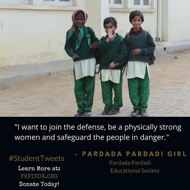 I want to join the defense, be a physically strong women and safeguard the people in danger. #StudentTweet #FHFI #education #girls #nonprofitorganization #india #change #fhfinow #educationforgirls #educationforchange #bethechange #changealifetoday