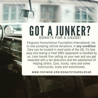🚗💨🚙💨If you've got an old car hanging  around, donating it is a fast and easy way to make a big difference! ❤  #changealifetoday #bethechange #educationforchange #educationforgirls #fhfinow #supportnonprofits #nonprofitorganization #humanrights #hope #taxwriteoff