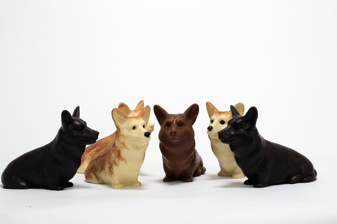 Dark, Milk and White chocolate corgis....aren't they sweet!