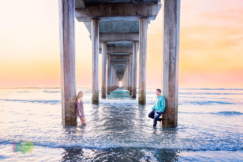 scripps pier sunset engagement session photography la jolla.jpg