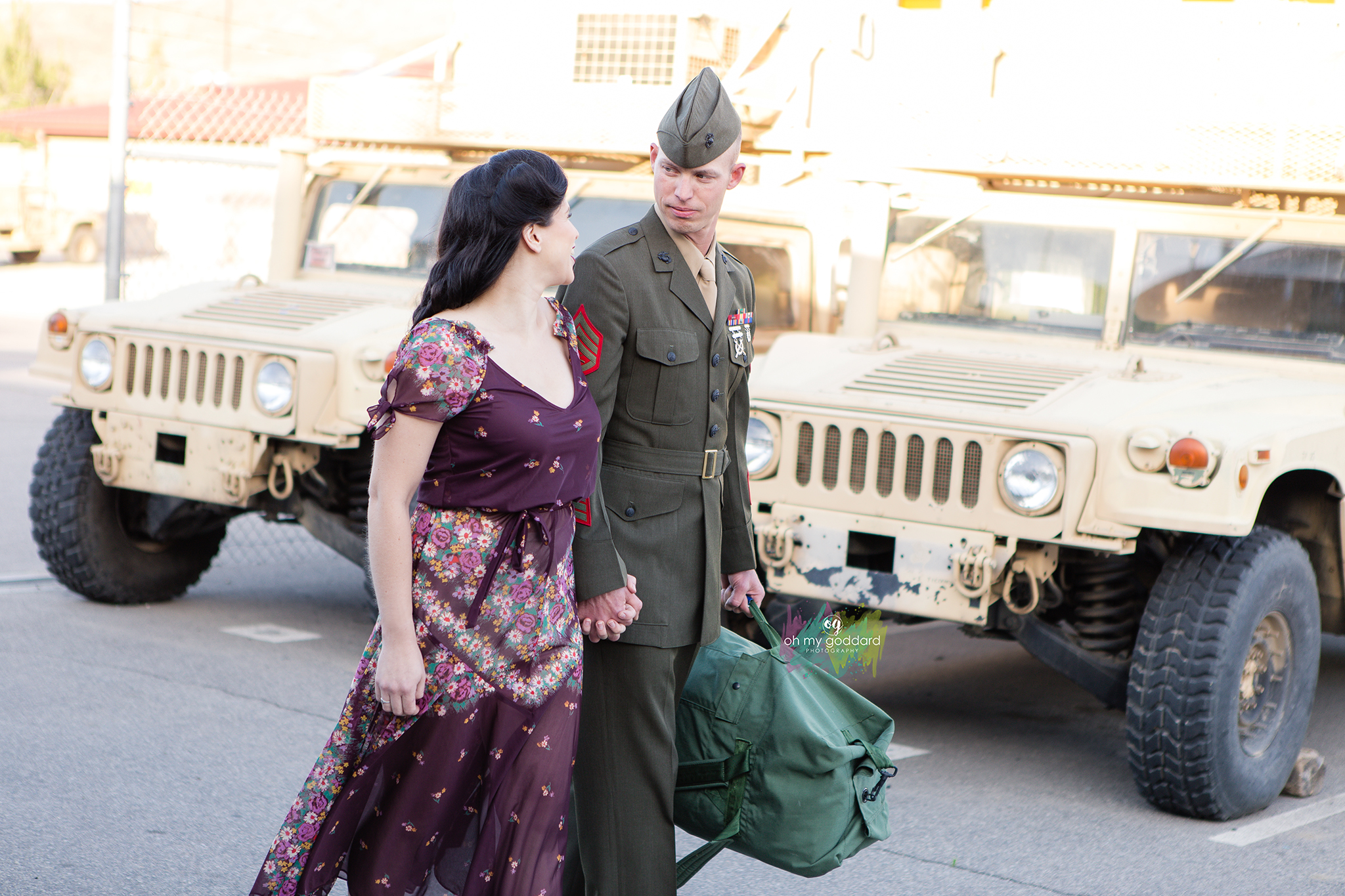 1940s Vitage Military Pregnancy Announcement Photoshoot by Oh My Goddard Photography - San Diego Photographer