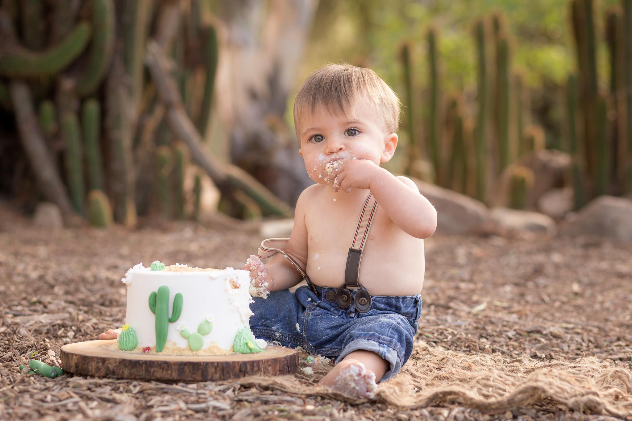 Cactus Cowboy Southwestern Cake Smash- Oh My Goddard Photography - San Diego Oceanside Cake Smash Photographer-23.jpg