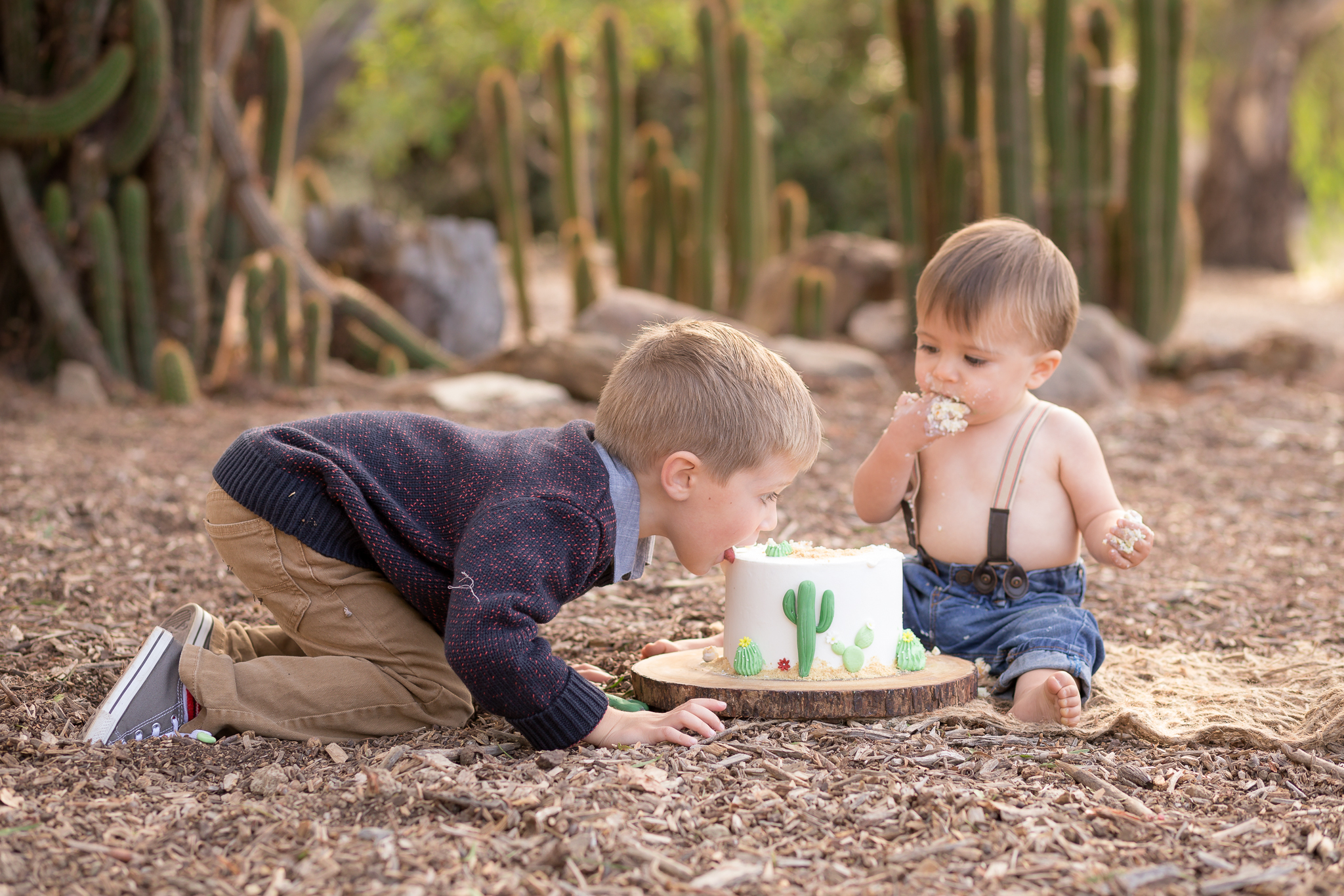 Cactus Cowboy Southwestern Cake Smash- Oh My Goddard Photography - San Diego Oceanside Cake Smash Photographer-18.jpg