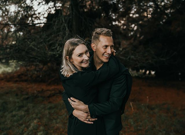 Courtney & Josh, wed & wrapped in black. Two of the slickest around 🖤