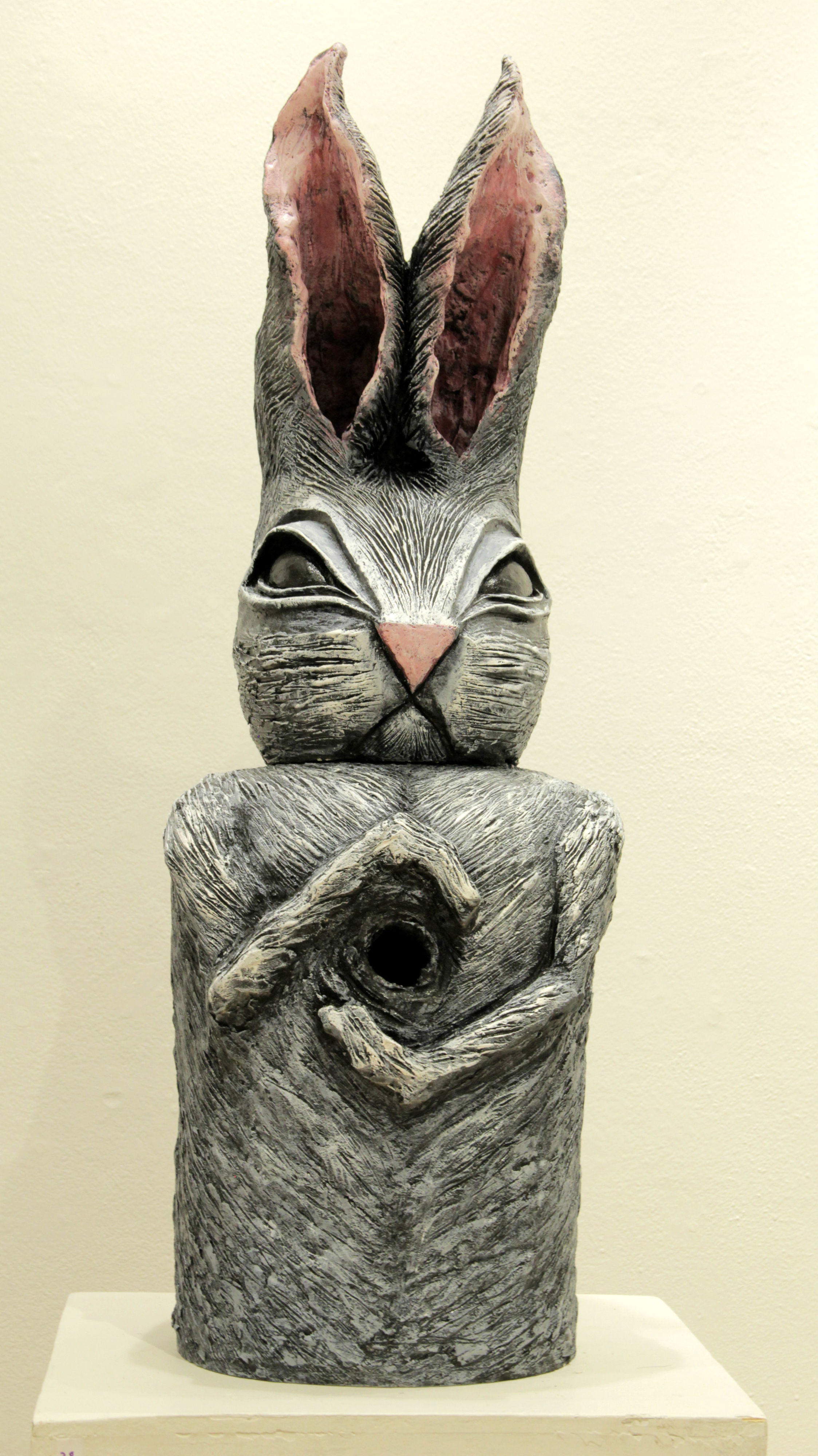 Monumental Votive Rabbit, Clay, paint, H 36 in. x W 14 in. x D 16 in.