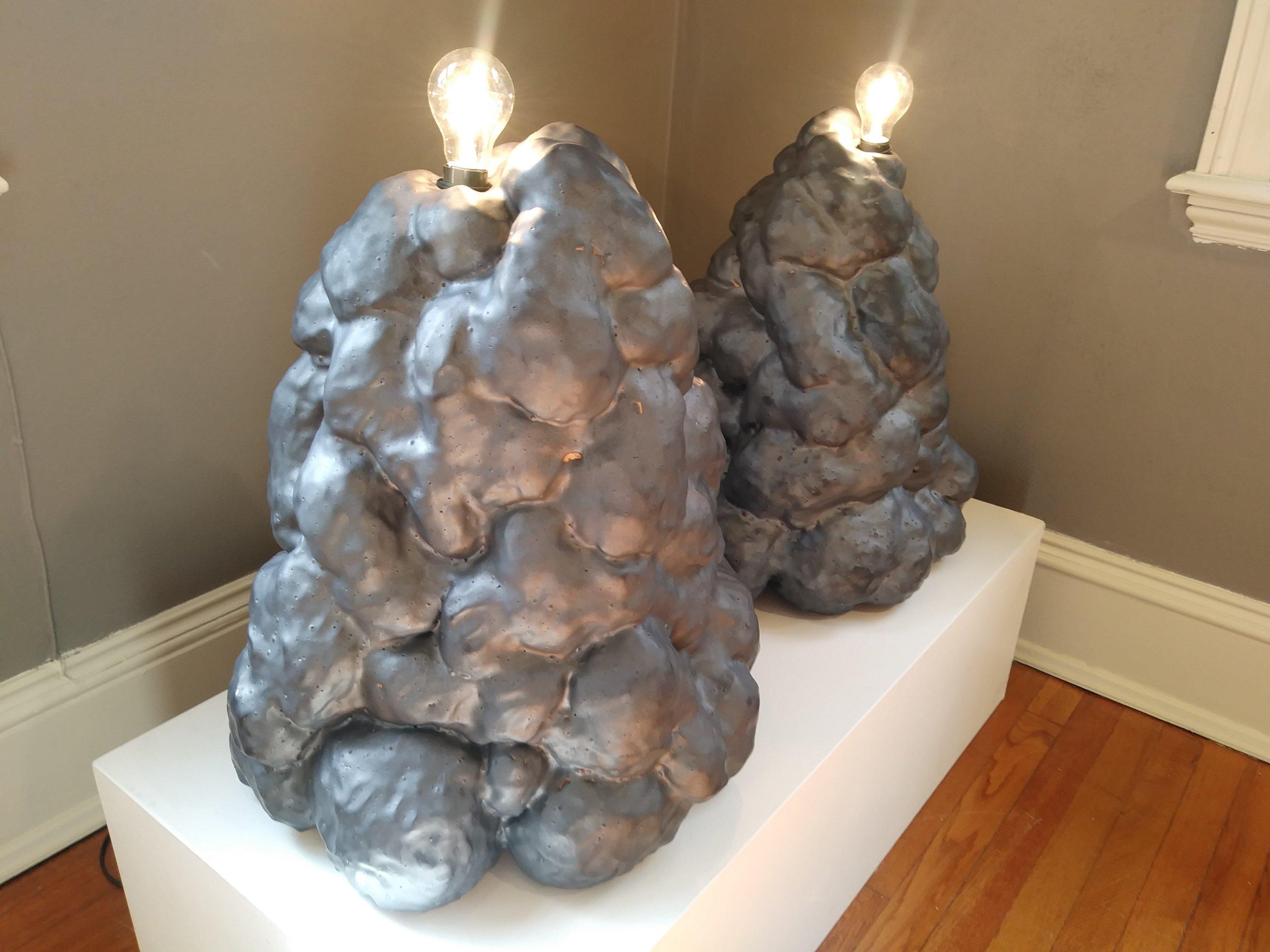 """""""Bulbous I & II,"""" by Anna Graef, Clay and glaze"""