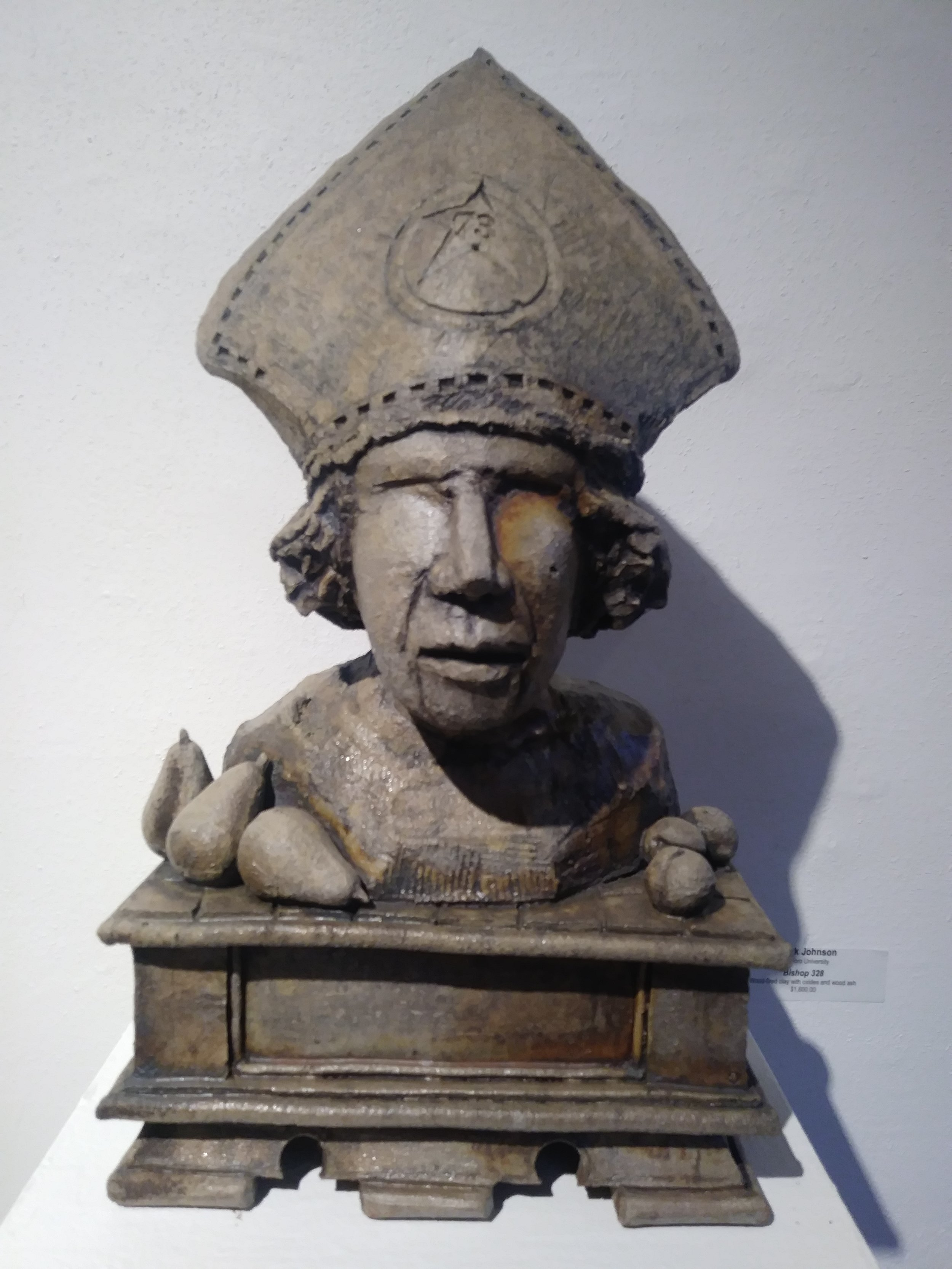 """""""Bishop 328"""" by Chuck Johnson, Wood fired clay with oxides and wood ash"""