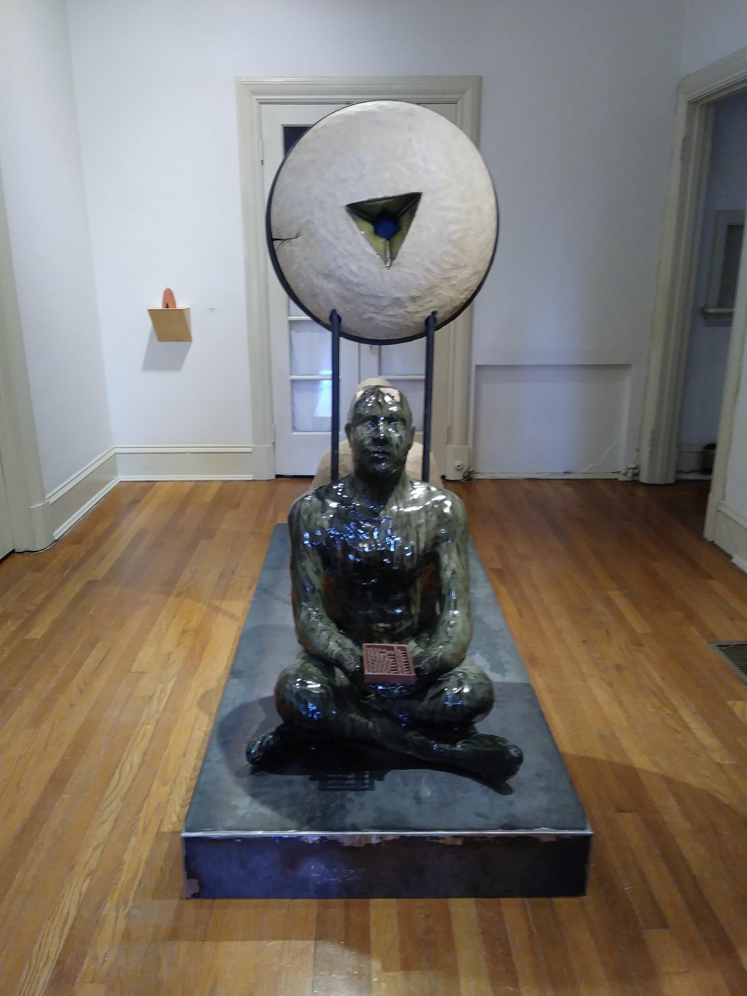 """Language of Enlightenment"" by John Domenico, Ceramic, Glaze and Steel"
