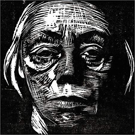 """Frontal Self Portrait"" by Kathe Kollwitz, woodcut"