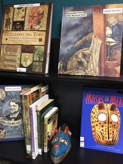 Reference books in the Art Center