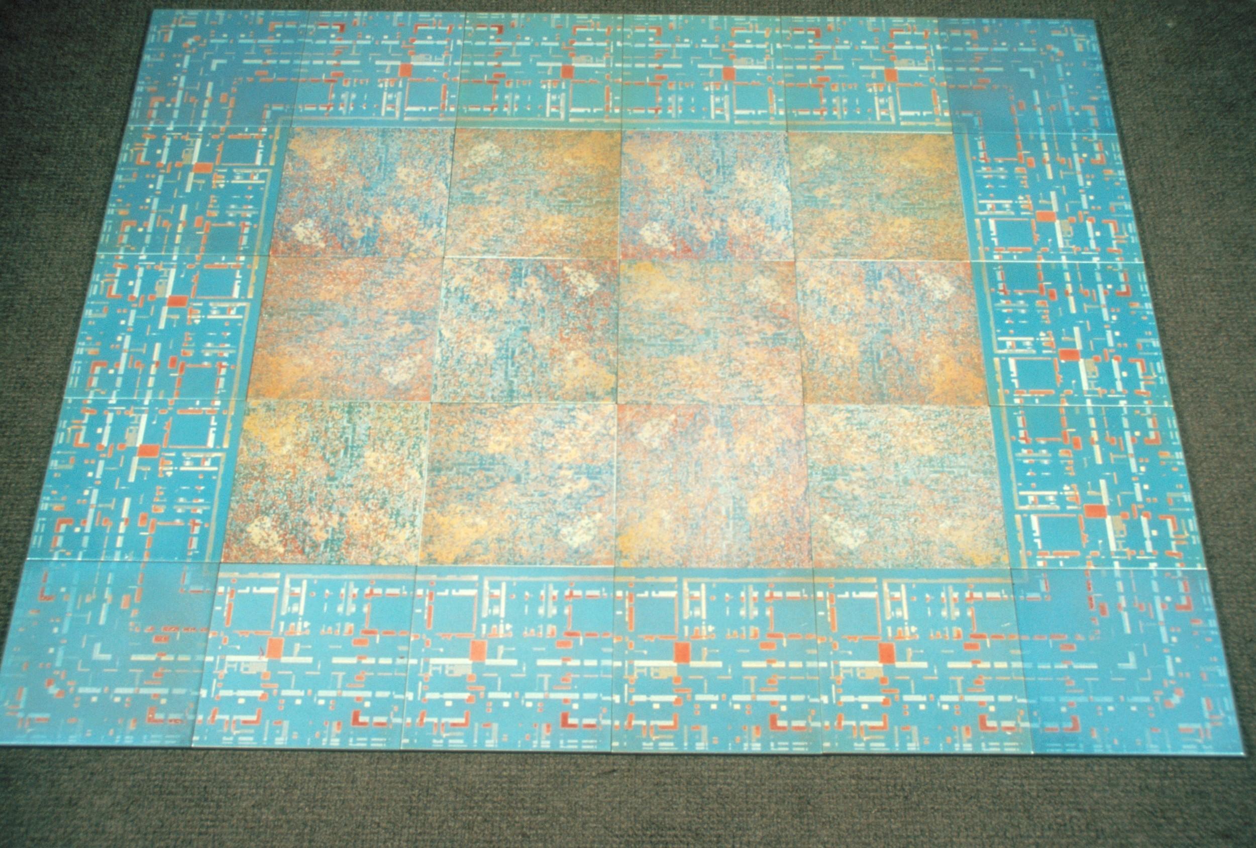 "(Ceramic tiles 12"" x 12""/ tile)"