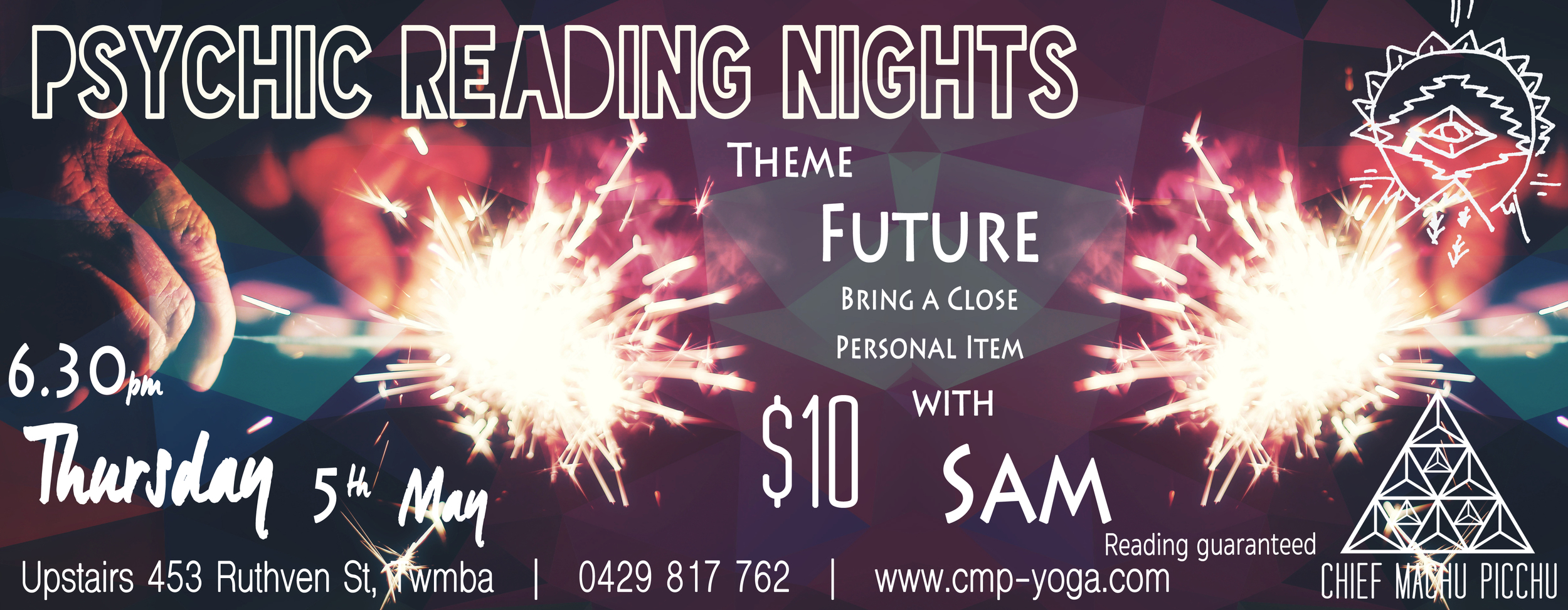 Sam will be conducting our Psychic Readings this Thursday at 6.30pm, $10 Entry with Reading Guaranteed 🌟 Looking into the FUTURE!