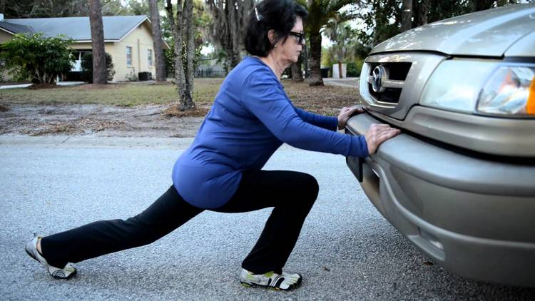 Or moving a car like this boss lady right here...