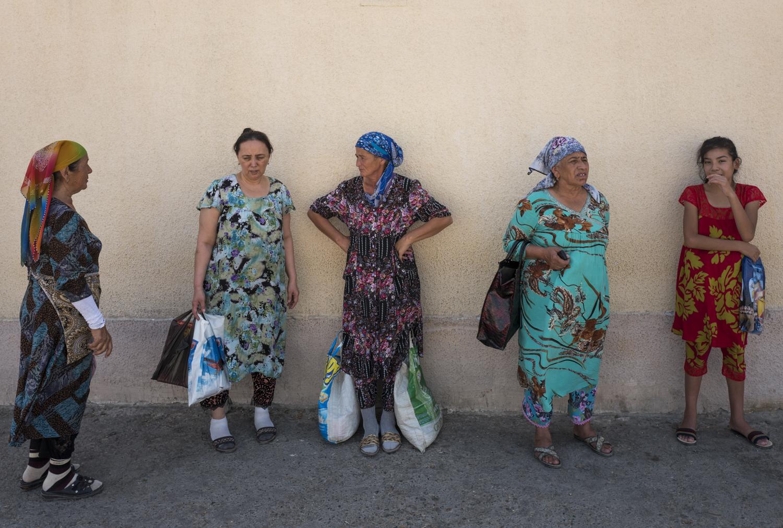 women in Bukhara, Uzbekistan