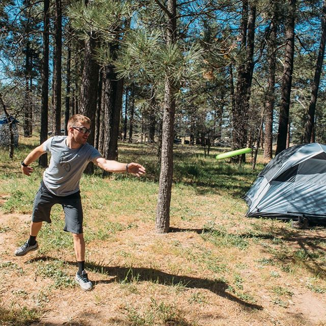 Frisbee time.  How can shuch a simple toy be so much fun #frisbee #camping #mountains #optoutside