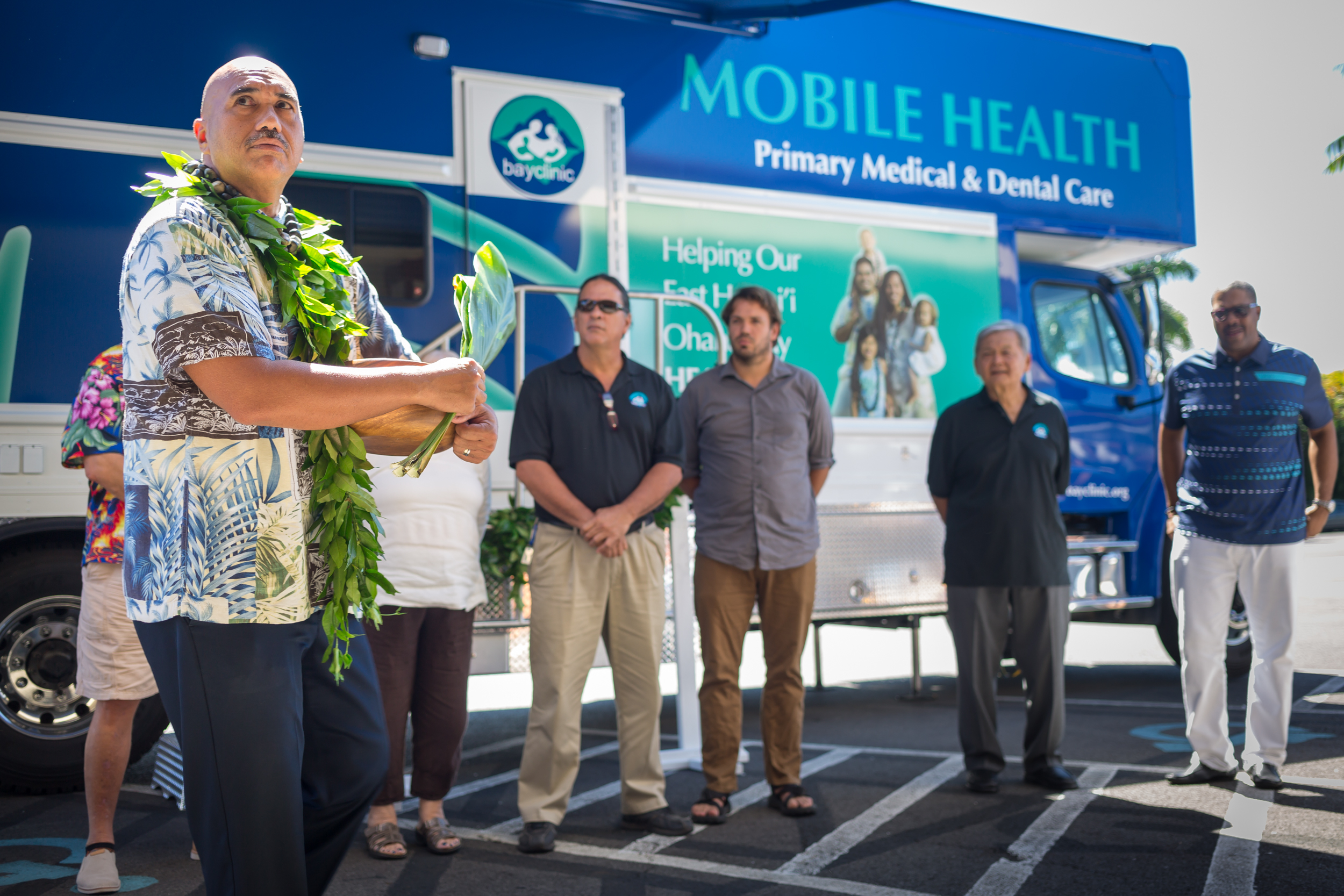 Blessing ceremony for Hawaii's first dual-use medical and dental mobile health unit.