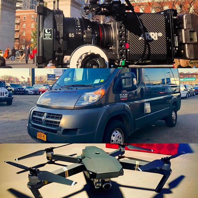 It's going to be a big year for everyone in the film and television business in NYC...hit up Eclectic for all your production rental needs: Alexa mini and other camera packages, drone rentals, and new for 2019 a fully loaded 1 Ton G&E Sprinter package. DM for all inquiries!