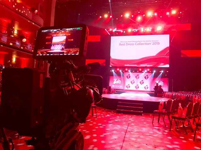 Setting up at #nyfw for #goredforwomen fashion show. Great event for a great cause! And the #fs7 handles a whole lot of red lighting like a champ! #EclecticProductions