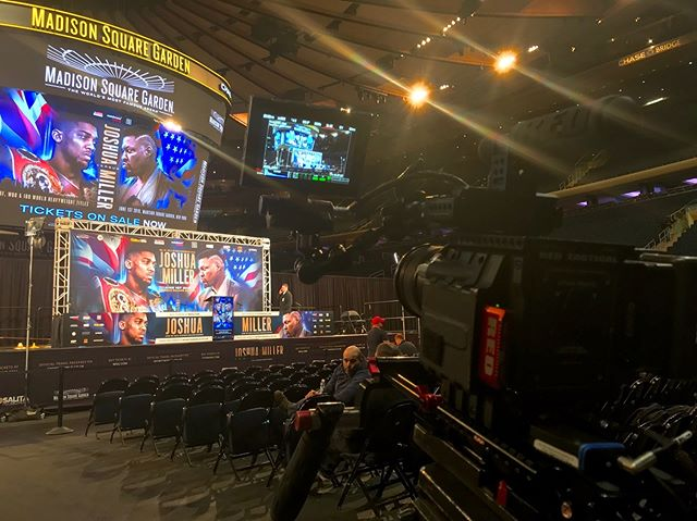 If you're going to shoot #boxing there's no better place than #madisonsquaregarden #msg #nyc #redcinema #red #eclecticproductions