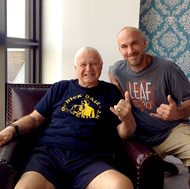 RIP Dick Dale. Throwback to the time I was honored to shoot an interview with the legend; one of my guitar heroes. He was also a deep thinker and gracious enough to take a photo with me. If you haven't listened to his true Magnum Opus, Esperanza, today is the day. #dickdale #fenderstratocaster #surfrock #eclecticproductions