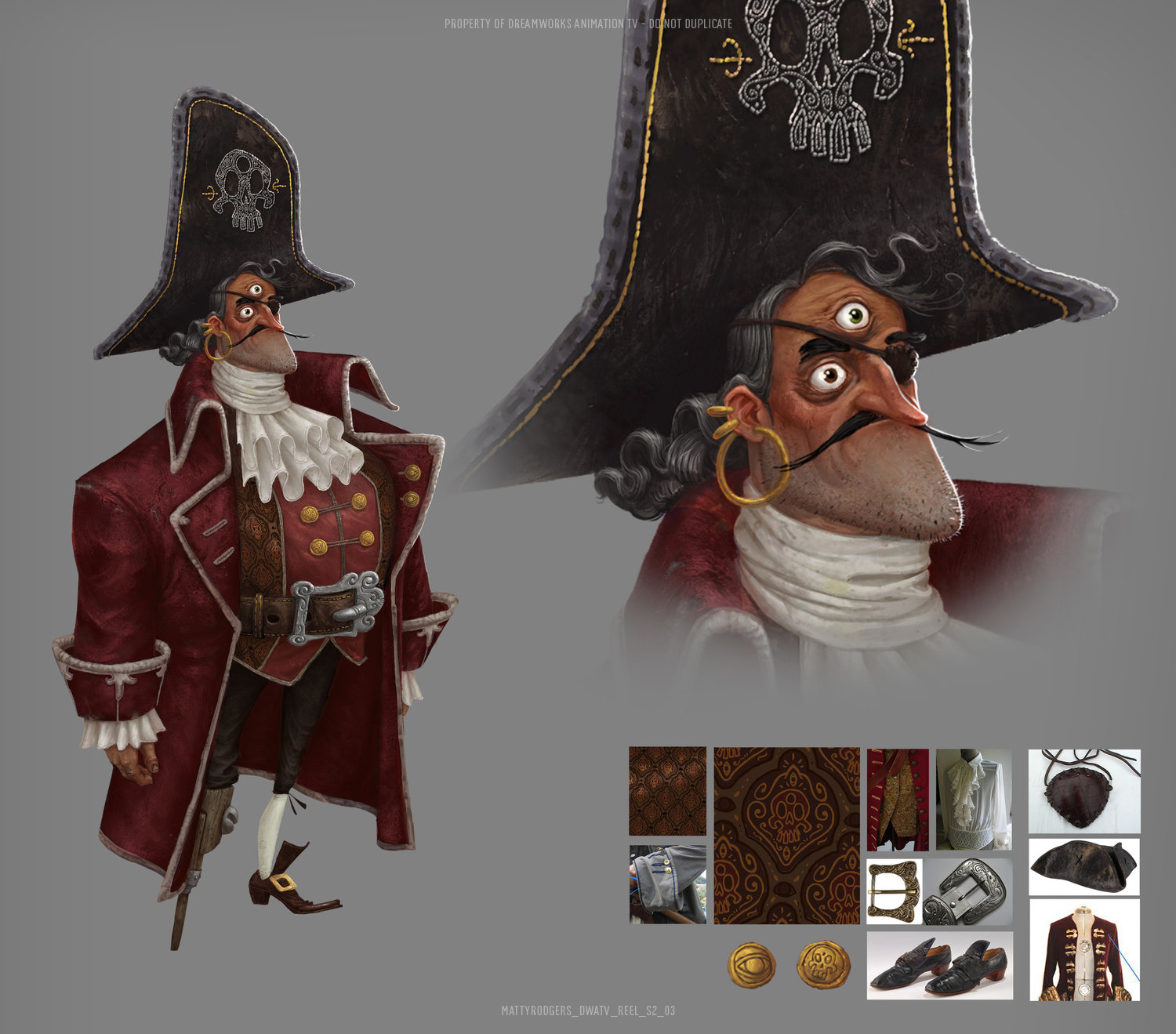 Character design by Guillermo Ramírez Calvo. Colour by Matty. Art direction by Edison Yan. This guy was a lot of fun to paint! Initially I presented some more varied colour schemes for his outfit but the director liked this unified look.