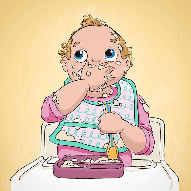 Phoebe. Lil potato. Peachy. Peepers. Chuckles. Toddles. My main mini. This is how she did breakfast at 1 year old. Except messier. She can make this mess with just a spoon these days. They grow up so fast! - - - - - - - - #cavematty #mattyrodgers #babylife #parenting #breakfast #15monthsold #artdad