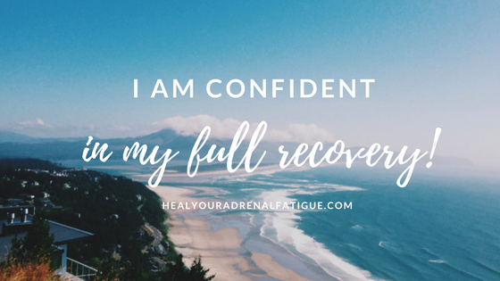 I am confident in my full recovery!