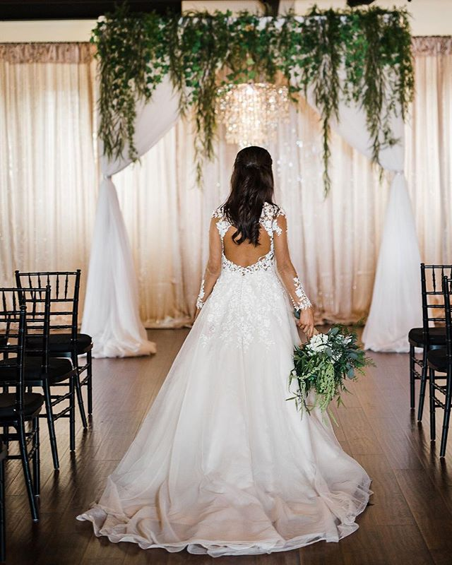What does your fairytale wedding look like? 💕  Venue: Old Towne Event Center Decor: Shannon's Custom Design  Photographer: Ella K Photography  Model: Sofia Perez