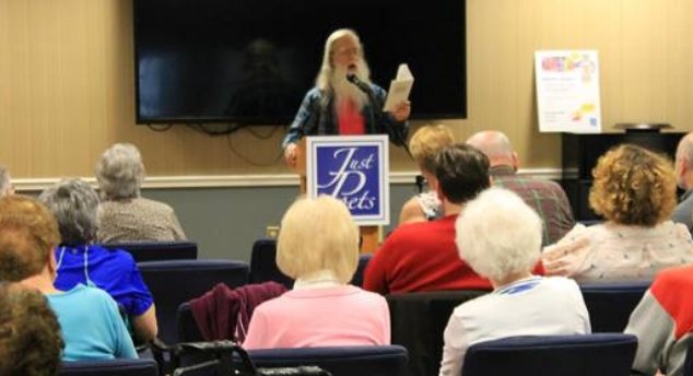 David Michael Nixon reads the evening's first poem.