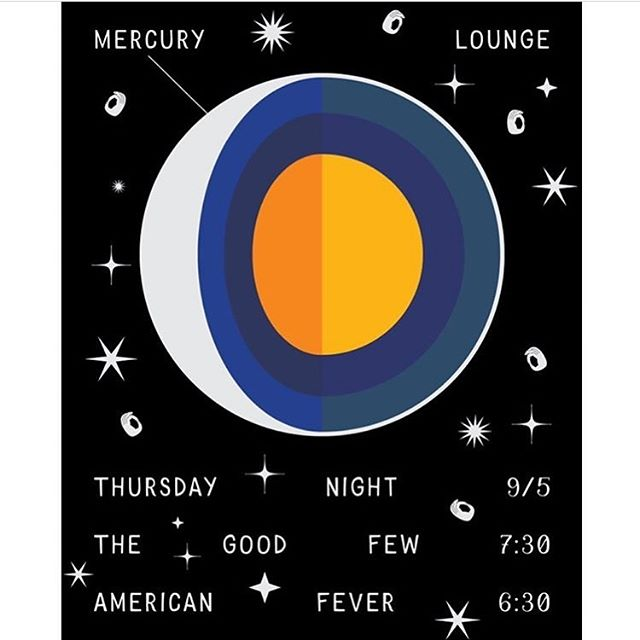 Tonight at @mercuryloungeny with @thegoodfew ! Early show so come for some afterwork drinks & live music