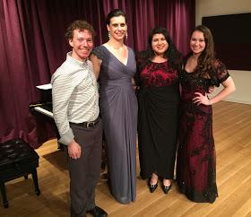 Accompanist Jesse Pieper and trio JACOPERA (Jennie, Ana, and Christina)