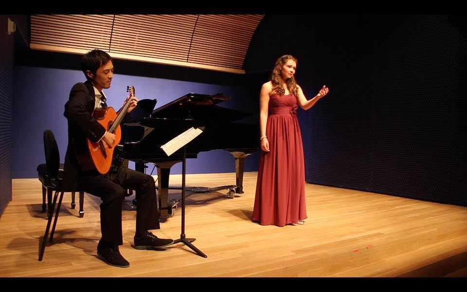 "Performing a new piece, ""You Caress the Night,"" by Douglas DaSilva"