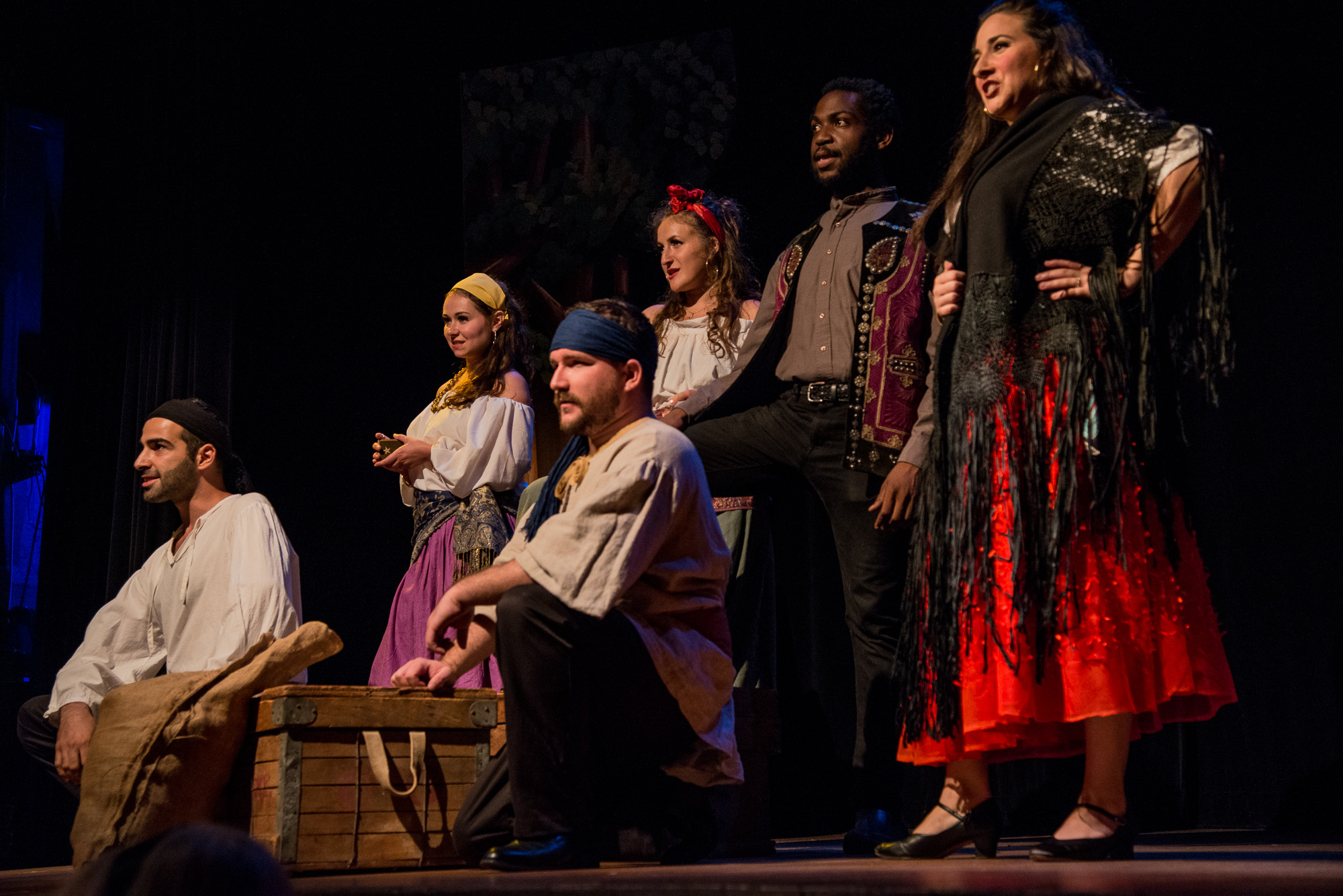 As the gypsy Frasquita in  Carmen  with Delaware Valley Opera  photo by: Kent Fairfield