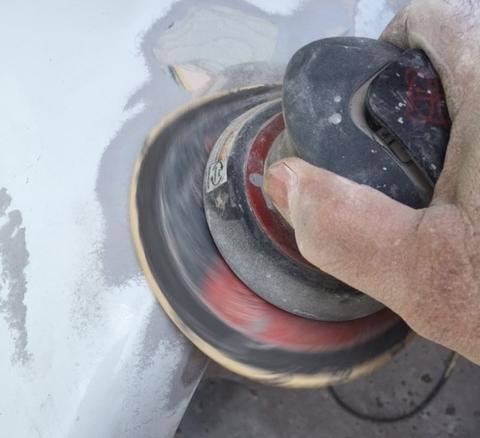Fiberglass Repair DA Sanding