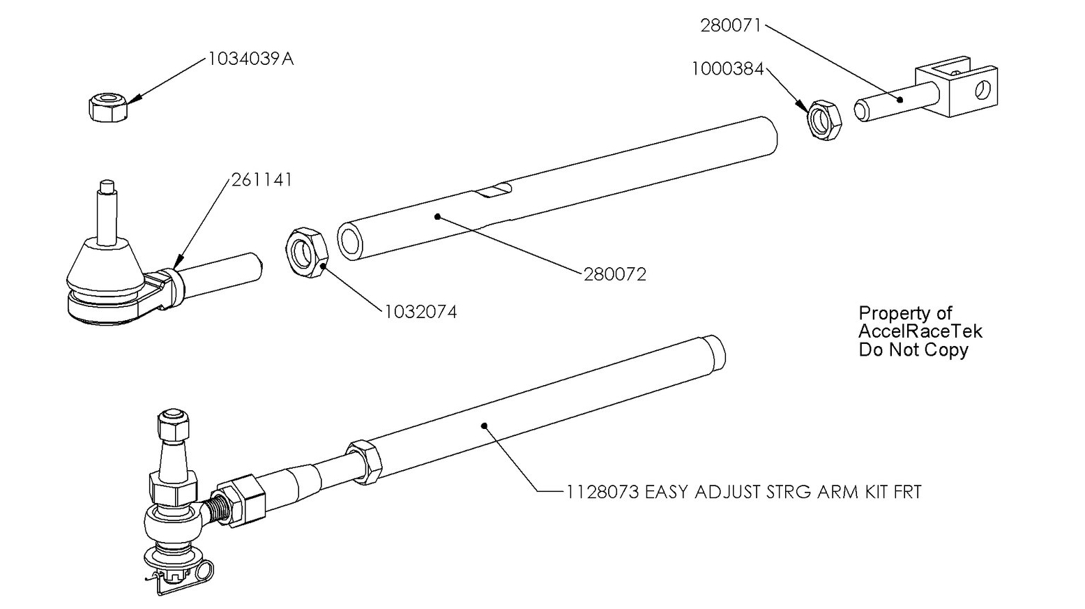 Spec Racer Easy Tie Rod Assembly Drawing