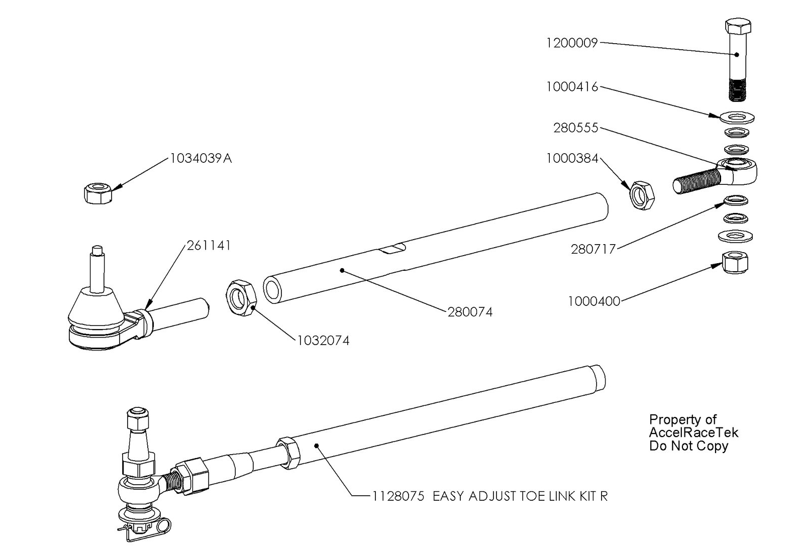 SpecRacer Tie Rod Assembly Drawing