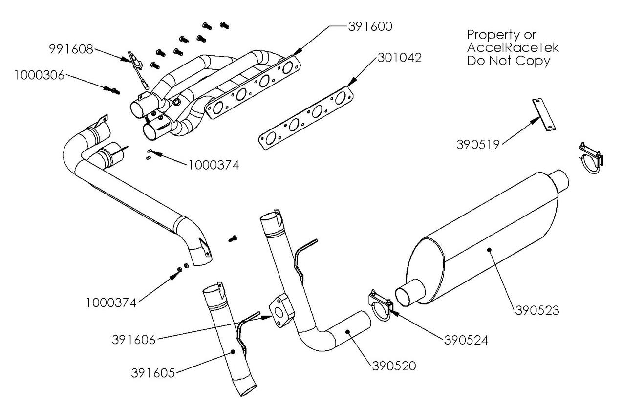Spec Racer Exhaust Drawing Gen 2