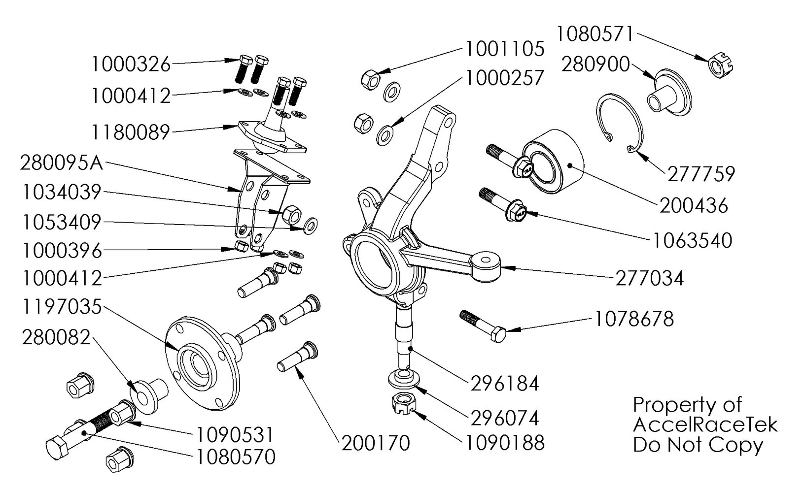 Spec Racer Ford Spindle Part Drawing