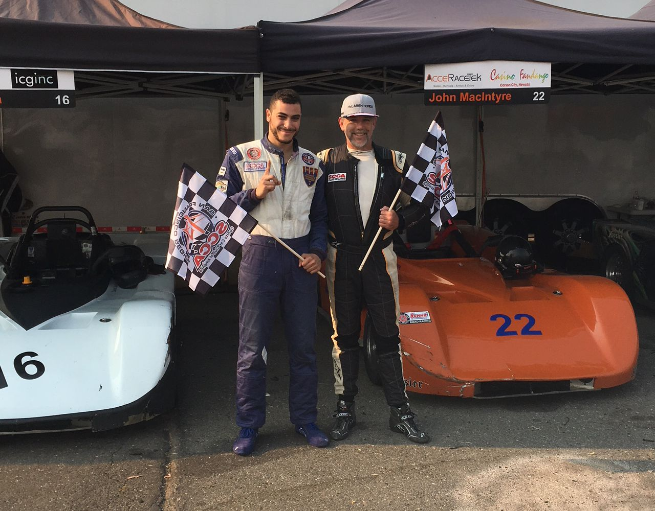 First time winners Yehia Essia and John MacIntyre – GEN2 & 3 Winners in race 13