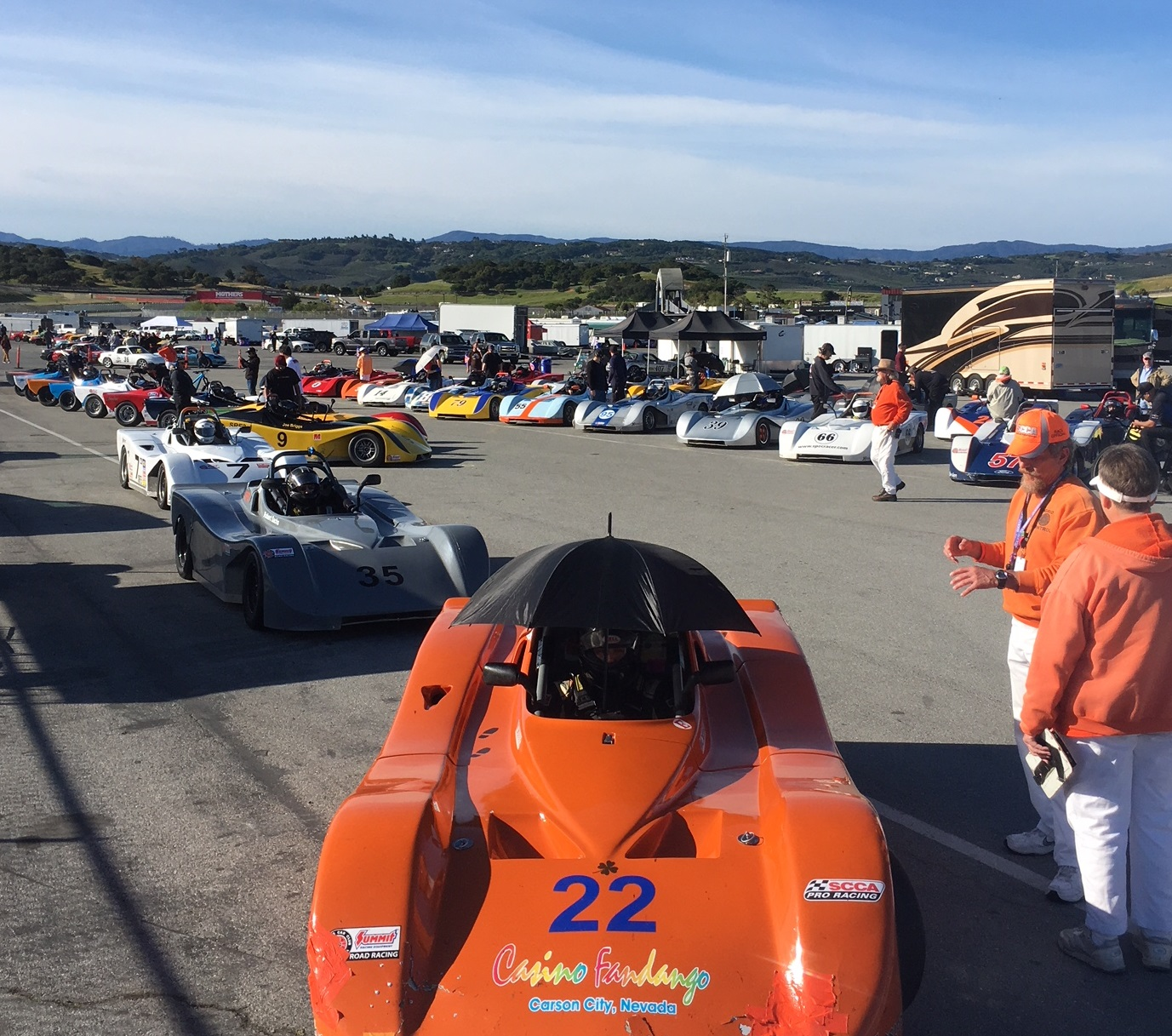 Starting Grid for the first race a Laguna Seca