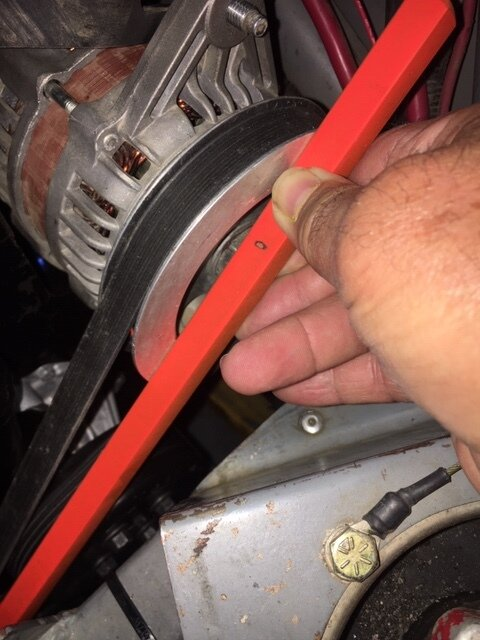 Alignment Bar at Alternator