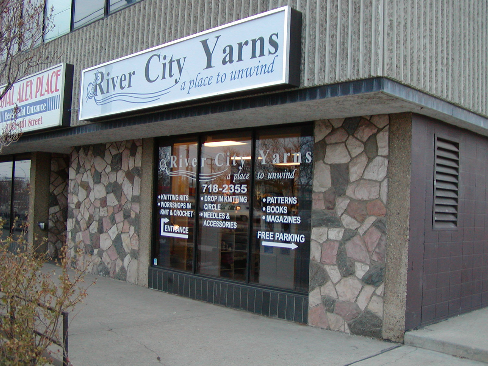 Our former downtown Edmonton location