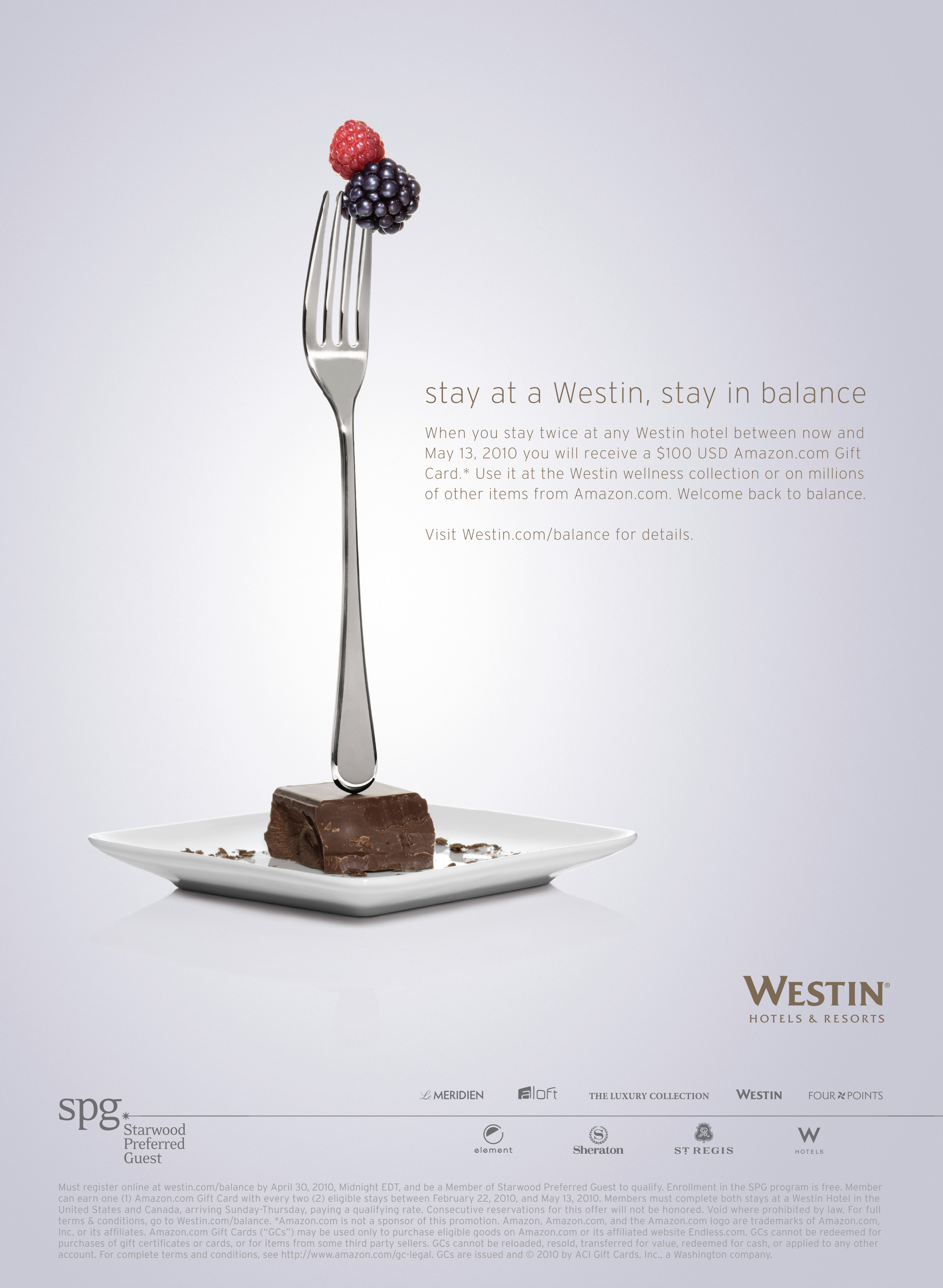 Starwood - Westin Hotels & Resorts :: Balance